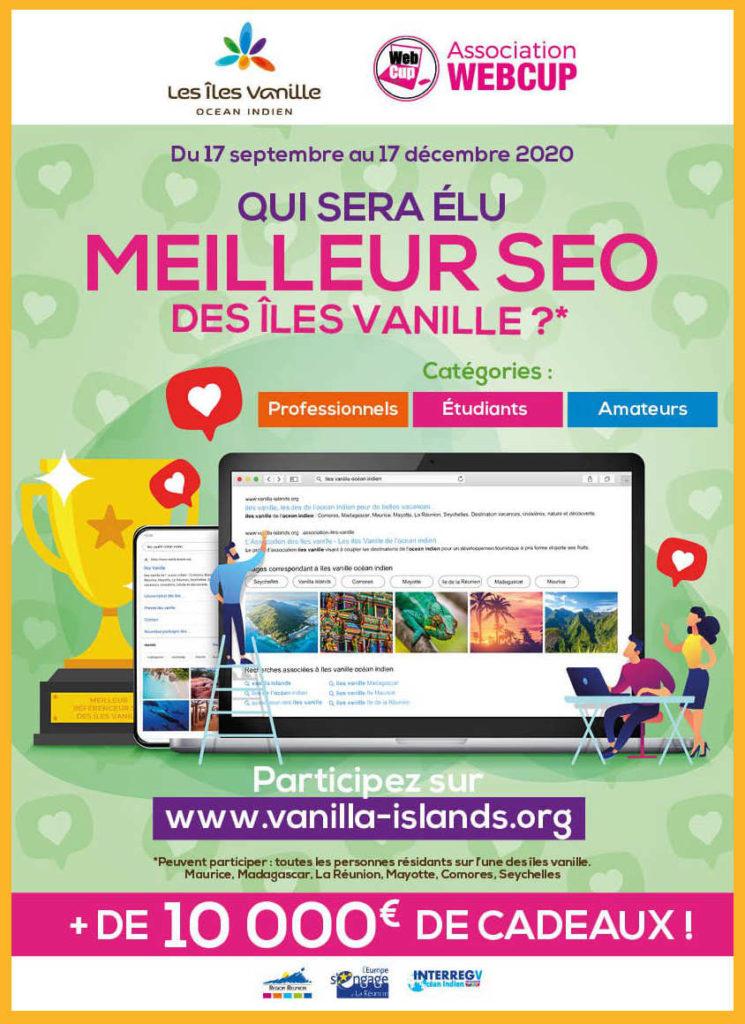 Affiche du concours des îles Vanilles