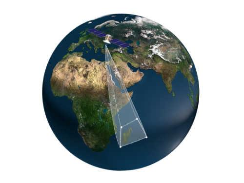 Vue satellite du Trapèze des Mascareignes