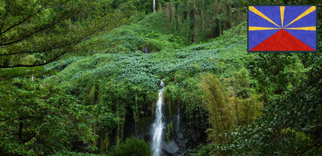 Vue aérienne de La Réunion dans l'Archipel des Mascareignes