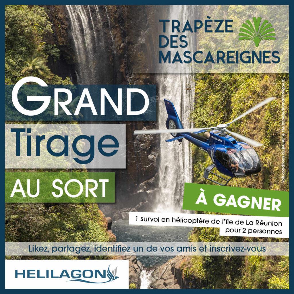 Tirage au sort Trapèze des Mascareignes - Ile de La Réunion